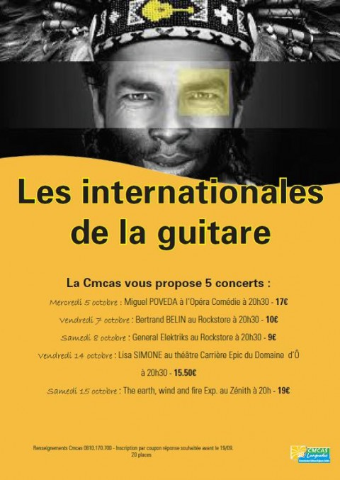 Concert Festival Les Internationales de la Guitare Bertrand Belin
