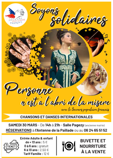 Ce Week-end Soyons Solidaires ! Chansons, danse, orchestre