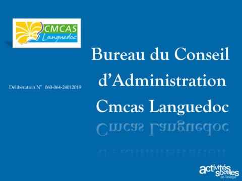 Présentation du Bureau du Conseil d'administration de la Cmcas Languedoc
