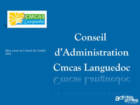 Présentation du Conseil d'administration de la Cmcas Languedoc