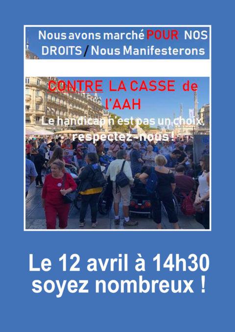 Manifestation du 12/04/2019 à Montpellier pour l'égalité des chances.