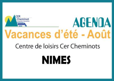 AGENDA AOÛT CENTRE DE LOISIRS CER CHEMINOTS – NÎMES