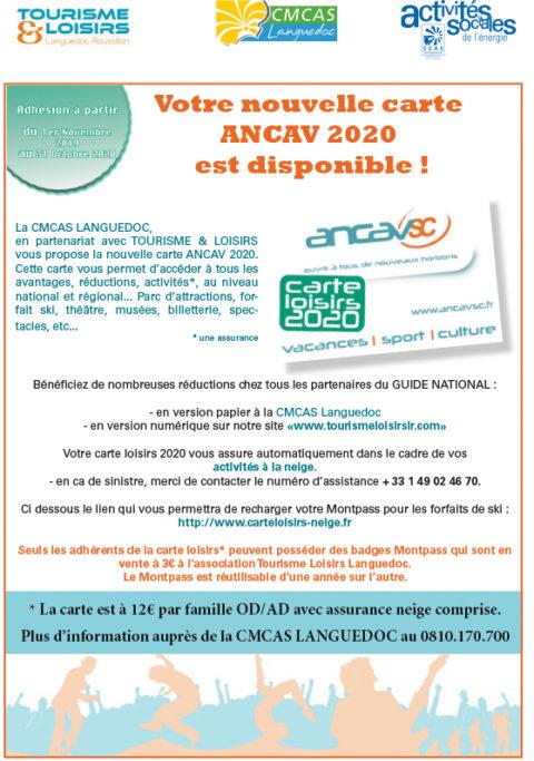 Nouveau ! La carte ANCAV 2020 est disponible !