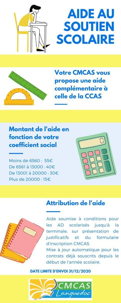 Aide financière au soutien scolaire