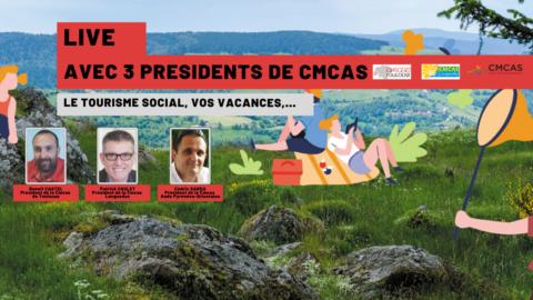 Revisionnez le Live avec les 3 présidents de CMCAS sur la chaine youtube